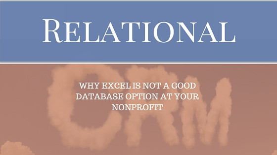Excel is not a CRM Database