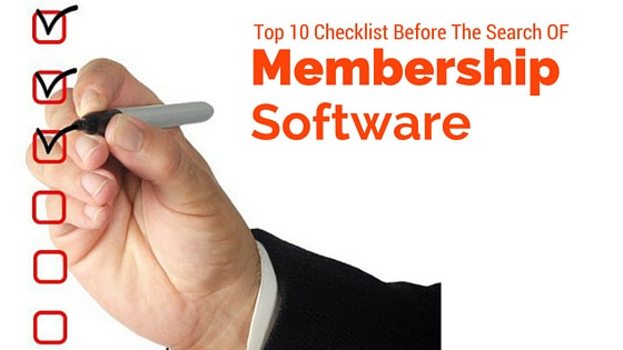 Top 10 Checklist for Searching for Membership Software
