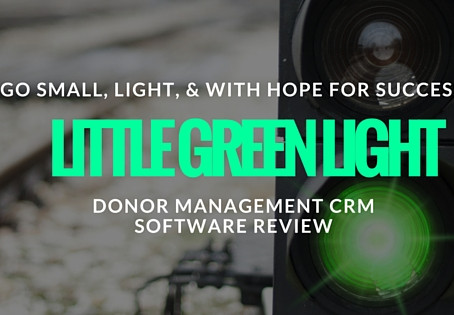 The Little Green Light CRM Donor Management Software Review