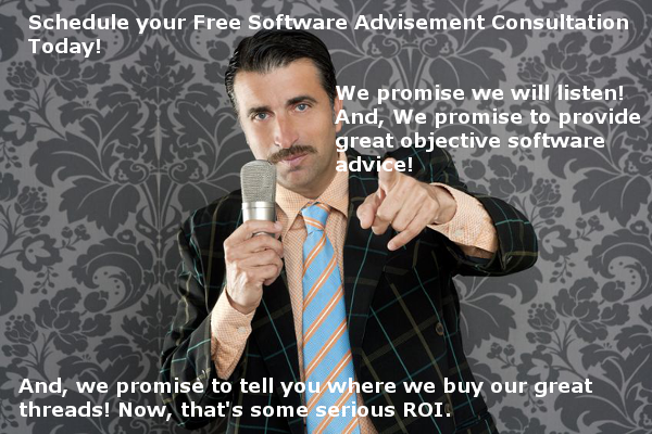 We do not sell software, we listen, and solve problems!