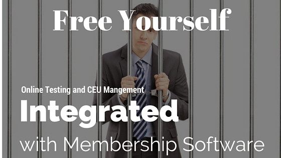 Online Testing Integrated with Membership Software