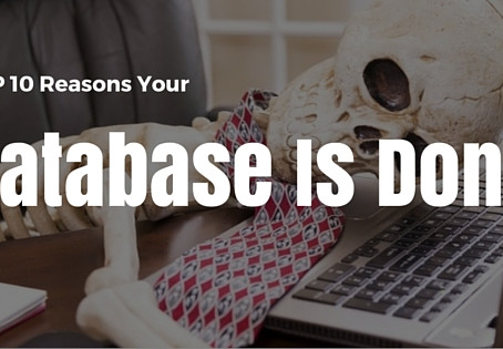 Top 10 Signals Your NonProfit Database is Done