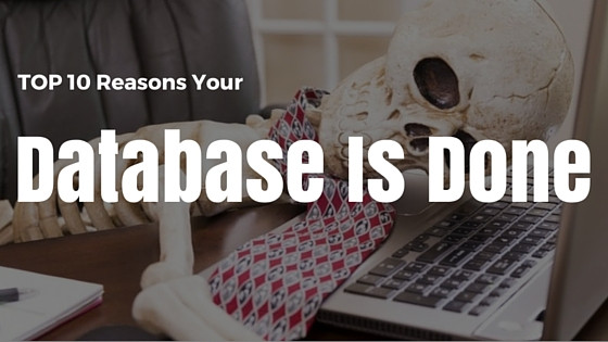 TOP 10 Reasons Your Nonprofit Database is done