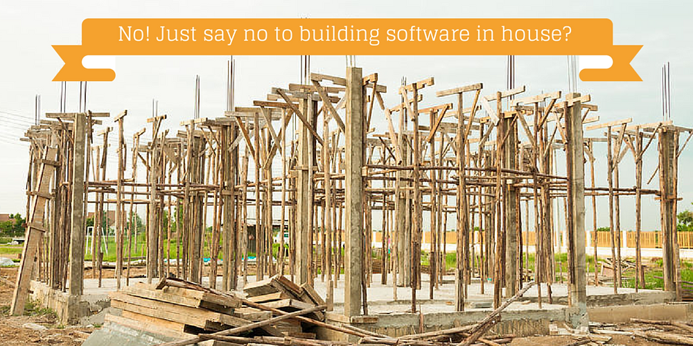 It's not likely a good idea to build software inhouse. Nonprofit can find good solutions.