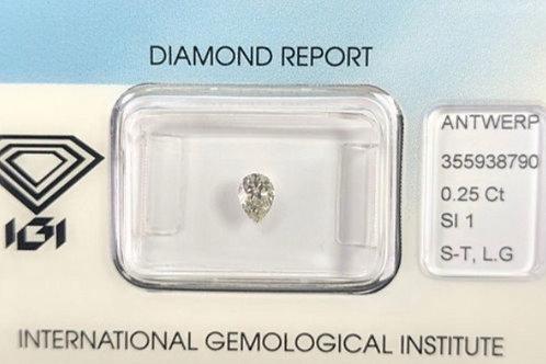 0.25ct S-T SI1 Diamond