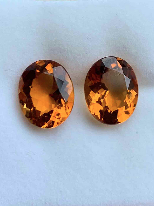 3.34ct & 3.24ct Citrine Pair