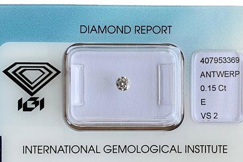 0.15ct E VS2 Diamond