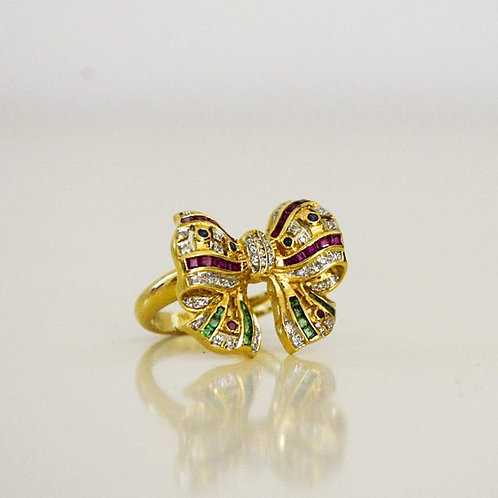 """18kt Yellow Gold """"Bow"""" Ring"""
