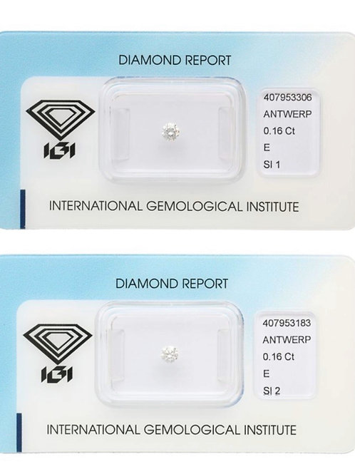 0.16ct & 01.16 E SI1/SI2 Diamond