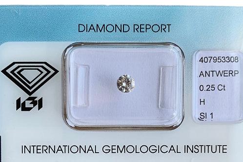 0.25ct H SI1 Diamond