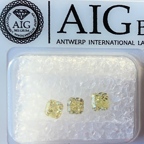 Lot of 0.64ct Fancy Yellow Diamonds