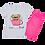 Thumbnail: Conjunto Bebê Camiseta Manga Curta e Short Ciclista Branco Poá