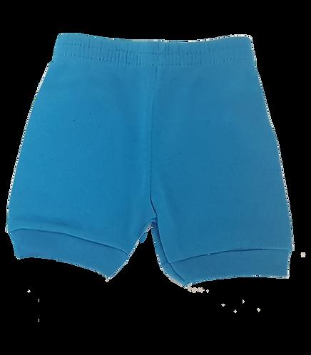 Shorts Azul Claro Bebê Canelado Liso -Kappes