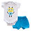 Thumbnail: Conjunto Bebê 2 peças Body e Shorts Branco e Azul Robô - Kappes