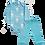 Thumbnail: Conjunto Body Manga longa e Calça Azul Coelhinhos - Kappes
