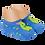 Thumbnail: Meia Bebê Sapatilha Azul Antiderrapante (18 a 22) Dinossauro