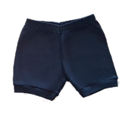 Shorts Azul Marinho Bebê Canelado Liso - Kappes
