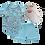 Thumbnail: Conj. 2 peças Body e Shorts Azul Claro Milk + Tênis Bebê Masculino Branco