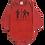 Thumbnail: Body bebê Manga Longa Vermelho - Frase Seu Pai| Meu Pai- kappes