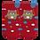 Thumbnail: Meia Bebê Masculino Vermelha Urso de Cachecol (16-19)