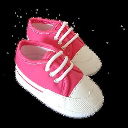 Tênis Bebê Feminino Pink e Branco