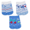 Thumbnail: Kit 3 Pares de Meias Bebê Recém Nascido (14-15) Masculino Branca e Azul