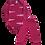 Thumbnail: Conjunto Body Manga longa e Calça Rosa Animal Print - Kappes