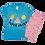 Thumbnail: Conjunto Bebê Camiseta Manga Curta e Short Ciclista Azul Picolé