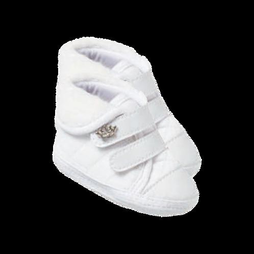 Tênis Bebê Martelasse Feminino Branco - Keto Calçados