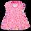 Thumbnail: Vestido Bebê Manga Curta Cotton Rosa Picolé