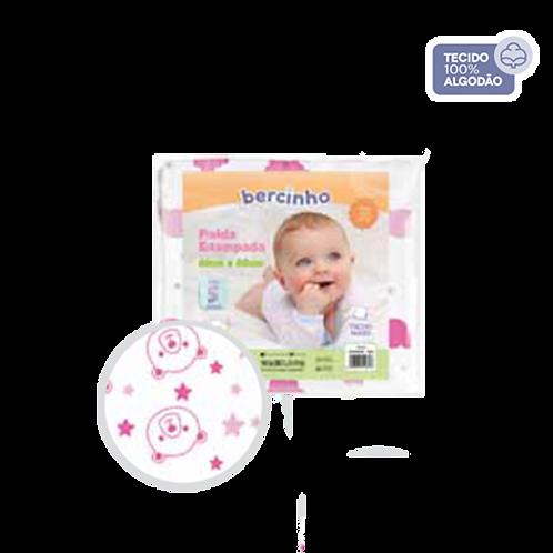 Pacote Fralda Bebê Branco e Rosa (5 unidades) - Bercinho
