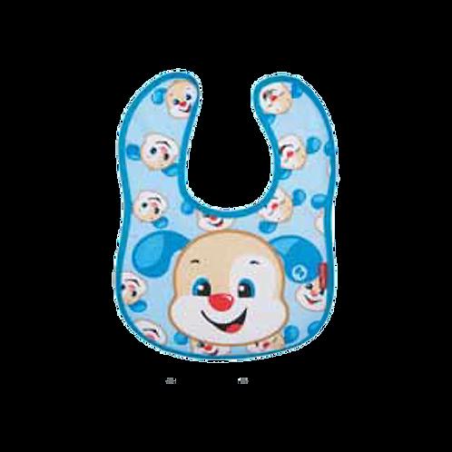 Babador Anatômico Impermeável Azul Cachorrinho com Botão - Fisher Price