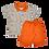 Thumbnail: Conjunto bebê camisa Polo e bermuda Caramelo folhas