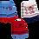 Thumbnail: Kit 3 Pares de Meias Bebê (16-19) Masculino Azul Branco e Vermelho