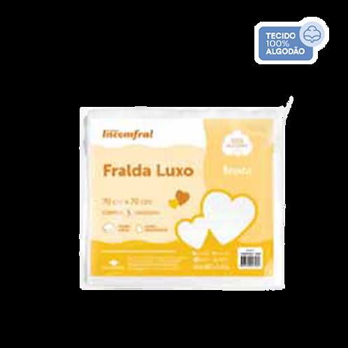 Pacote Fralda Luxo Bebê Branco (5 unidades) -Incomfral