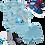 Thumbnail: kit 3 Peças Body e Shorts Azul Dinossauro Baby +Tênis Masc.+ 3 pares de meia