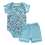 Thumbnail: Conjunto Bebê 2 peças Body e Shorts Azul Claro Milk -Kappes