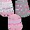 Thumbnail: Kit 3 Pares de Meias Bebê (16-19) Feminino Branco Cinza e Rosa