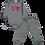 Thumbnail: Conjunto Body Manga longa e Calça Cinza Caminhão de Bombeiro - Kappes