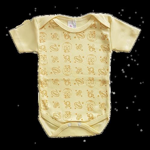 Body bebê Manga Curta Estampado Gatinho - Flaphy