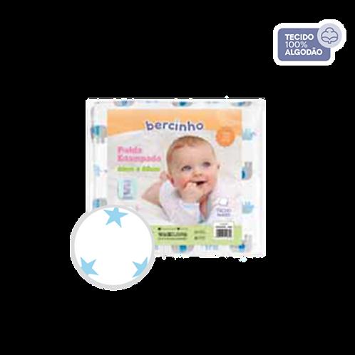 Pacote Fralda Bebê Masculino Branco e Azul (5 unidades) - Bercinho