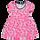 Thumbnail: Vestido Bebê Manga Curta Cotton Rosa Nuvens