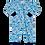 Thumbnail: Macacão Bebê Manga Longo com Zíper Azul Fundo do Mar