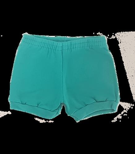 Shorts Verde Claro Bebê Canelado Liso - Kappes