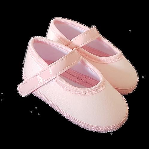 Sapatilha Bebê Feminina Rosa com Velcro