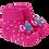 Thumbnail: Meia Botinha Bebê Feminino Rosa Borboleta (16-19)