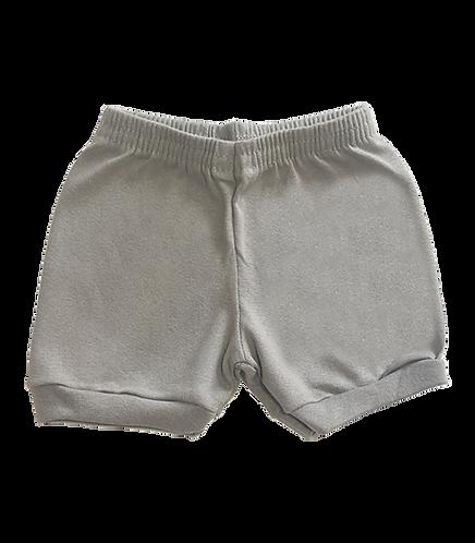 Shorts Cinza Bebê Canelado Liso - Kappes