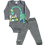 Thumbnail: Conjunto Body Manga longa e Calça Cinza Dinossauro
