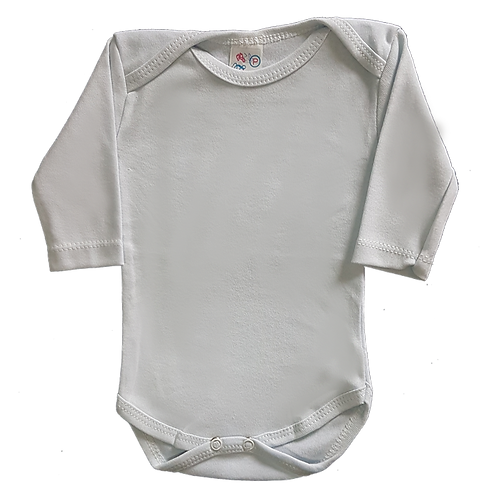 Body bebê Manga Longa Liso - Flaphy