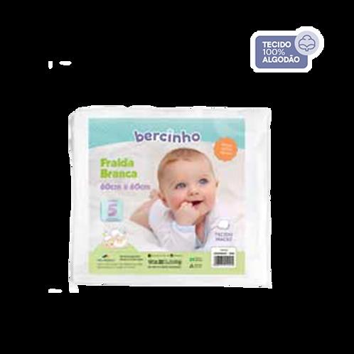 Pacote Fralda Bebê Branco (5 unidades) - Bercinho